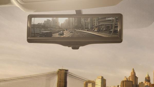 Nissan разработал умное зеркало заднего вида