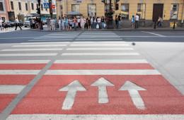 Нововведение в Москве: двусторонний пешеходный переход