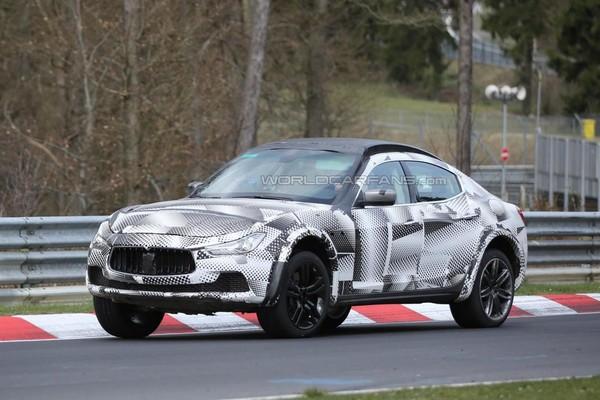 Серийный кроссовер Maserati: начались первые тесты