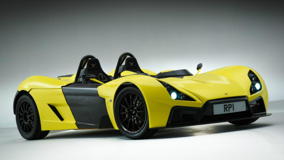 Сверхлегкий британский спорткар наберет «сотню» за три секунды