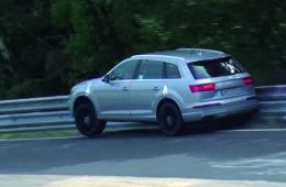 Заряженный Audi SQ7 не выдержал испытаний Нюрбургрингом