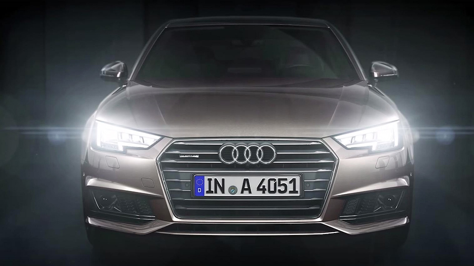 Компания Audi рассказала о светодиодных фарах новой A4