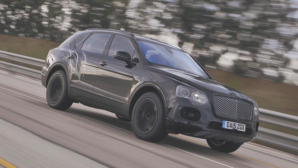 Первый внедорожник Bentley до 301 километра в час