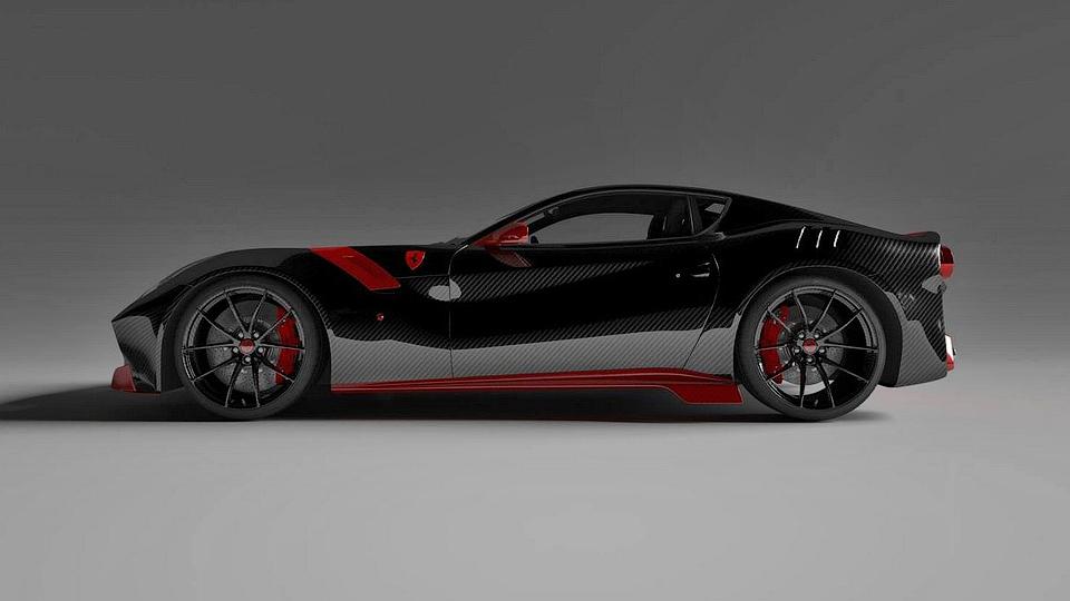 Тюнеры придумали для Ferrari F12tdf карбоновый кузов