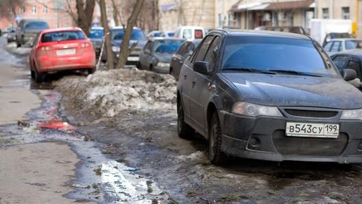 Петербургским водителям разрешили парковаться на газонах