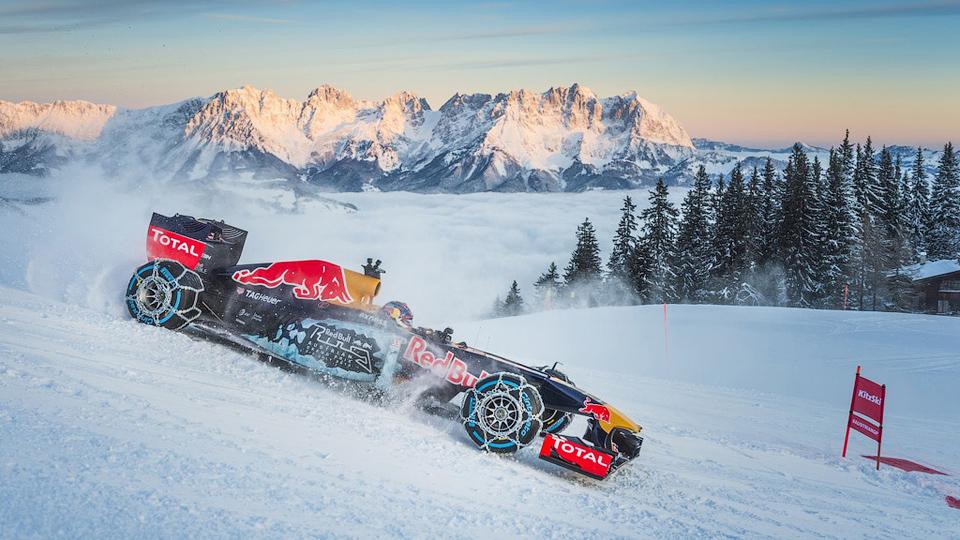 Red Bull оштрафуют за езду на болиде по горнолыжным склонам