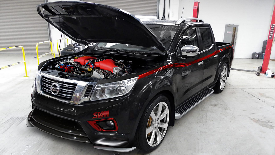 Пикап Nissan Navara оснастили мотором от суперкара GT-R