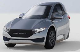 Забавный трехколесный электромобиль построят в Канаде