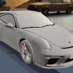 Дизайн новинки Porsche рассекретили на детской раскраске
