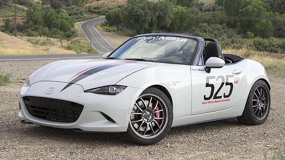 В США построили 525-сильную Mazda MX-5 с 6,2-литровым мотором V8