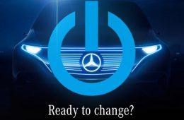 Mercedes-Benz показал тизер с новейшим электрокаром