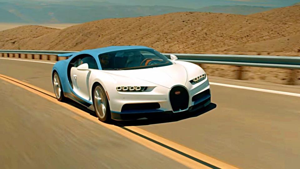 Bugatti испытала гиперкар Chiron в Долине Смерти