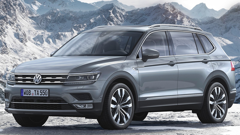 Семиместный Volkswagen Tiguan добрался до европейцев