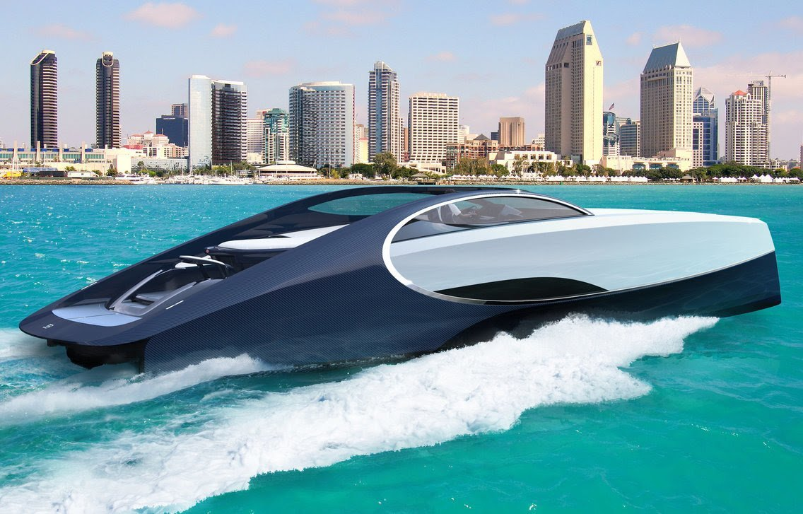 Bugatti создала яхту с местом для костра