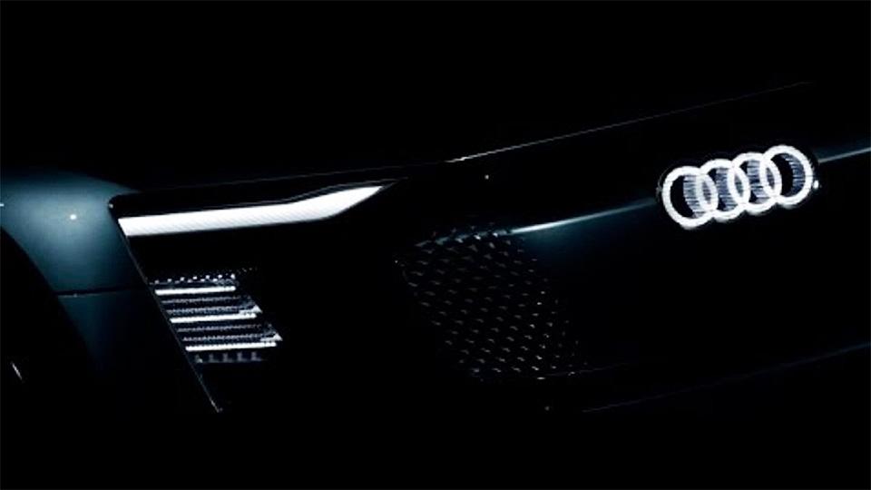 Audi привезет в Шанхай электрокар со светящимся логотипом