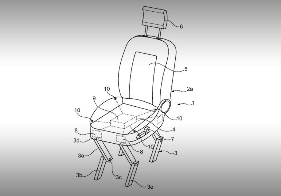 Ford запатентовал шагающее автокресло