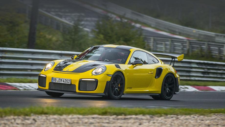 Купе Porsche 911 GT2 RS установило новый рекорд Нюрбургринга