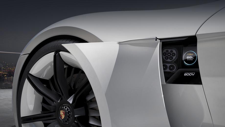 Фирма Porsche показала систему скоростной зарядки электрокара