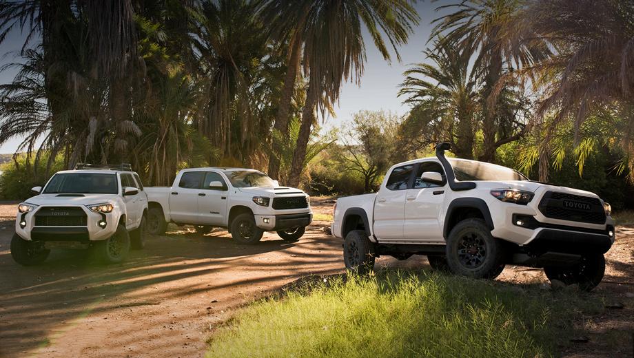 Внедорожники Toyota получили обновлённый пакет TRD Pro