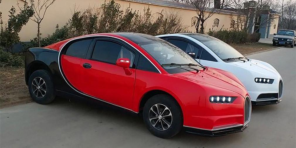 В Китае построили копию Bugatti Chiron за 5 тысяч долларов