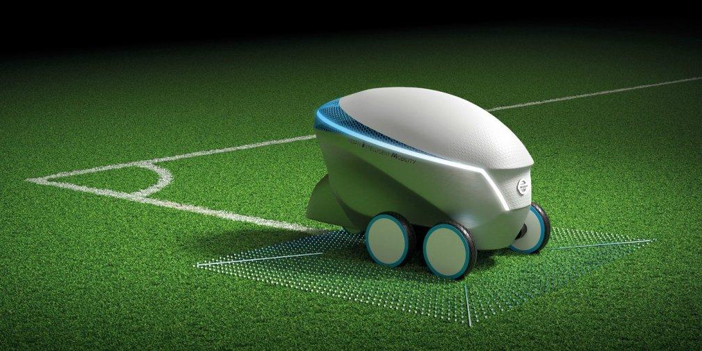 Nissan выпустил беспилотник для нанесения футбольной разметки