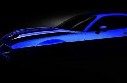 Dodge показал первый тизер с рестайлинговым маслкаром Challenger SRT Hellcat