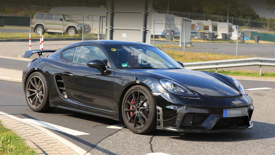 Купе Porsche Cayman GT4 получило новое антикрыло