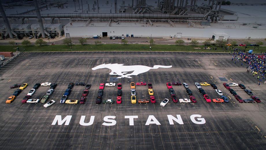 Десятимиллионный Ford Mustang сошёл с конвейера