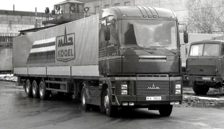 МАЗ-5445, экспериментальный тягач с необычной кабиной