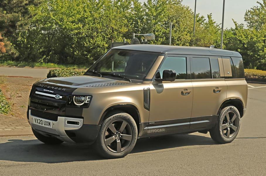 Land Rover вывел на тесты новый Defender с двигателем V8