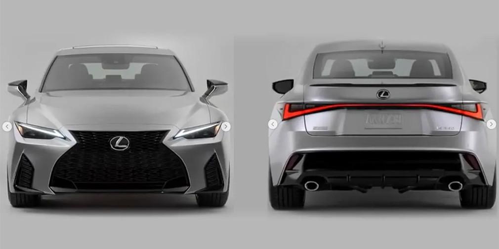 Дизайн нового Lexus IS рассекретили до премьеры
