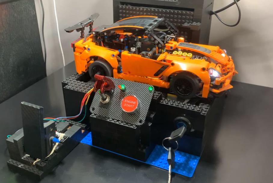 Chevrolet Corvette ZR1 из Lego оснастили электромотором и коробкой передач