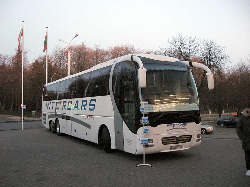 Проект международных перевозок пассажиров компанией intercars-tickets.com