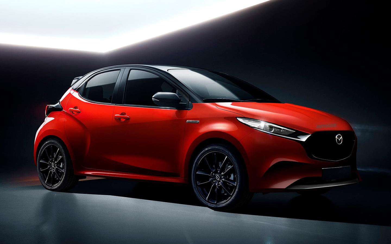 Новая Mazda2 для Европы станет перелицованным гибридом Toyota Yaris