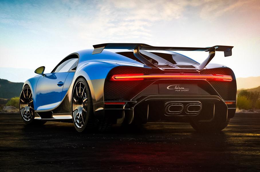 Раскрыт расход топлива 1500-сильного Bugatti Chiron Pur Sport