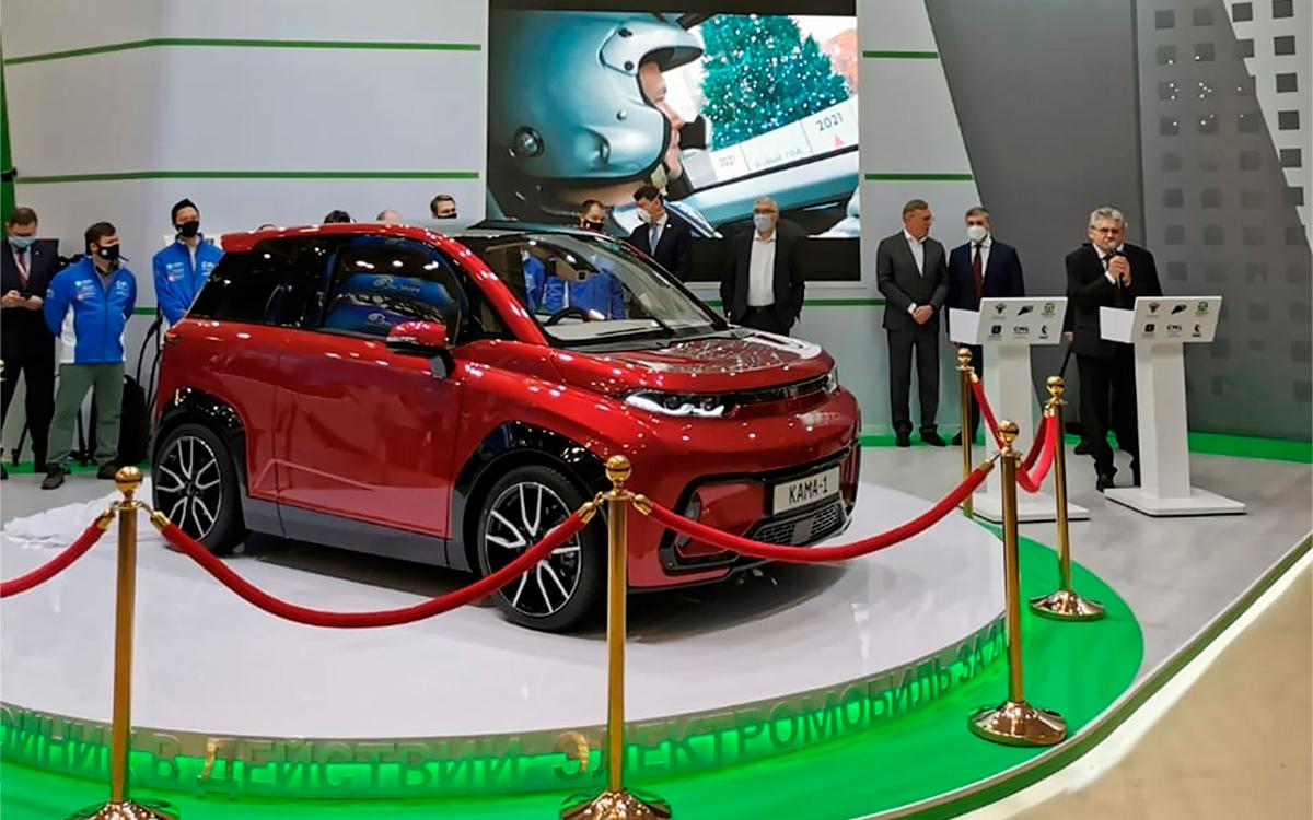КамАЗ создаст на базе электрокара «Кама-1» седан и грузовик