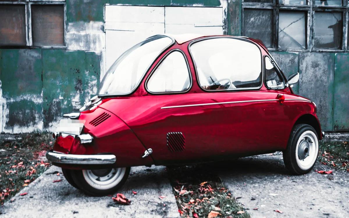 В России нашли очень редкий трехколесный автомобиль Heinkel