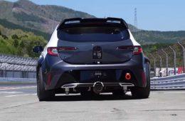 Toyota показала на видео хэтчбек Corolla с водородным мотором