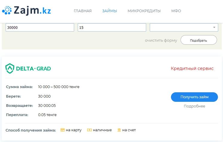Портал «Zajm.kz» — подбор займов и микрокредитов в Казахстане