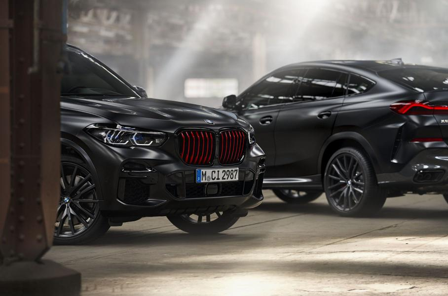 Российские BMW X5 и X6 обзавелись очень черной спецверсией Black Vermilion