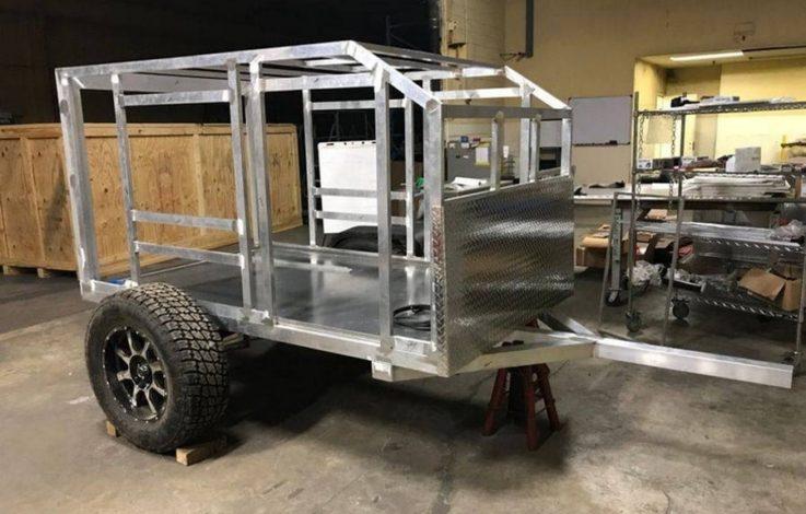 Как сделать каркас прицепа для дома на колесах?