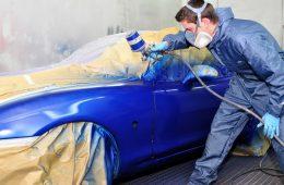 Окраска кузовных элементов машины